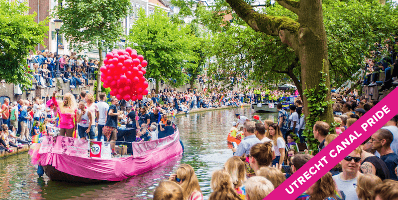 Utrecht canal pride party at WERF5